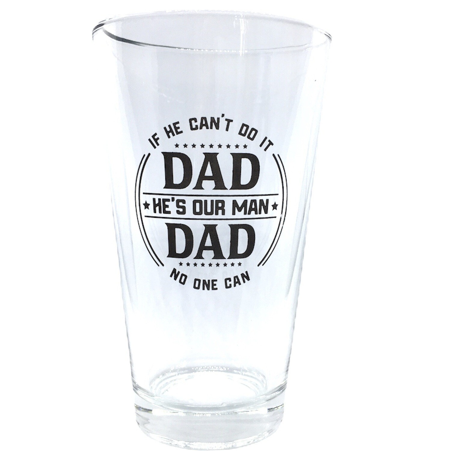 C25 DAD PINT ROCKS GLASS