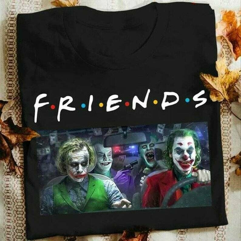 Joaquin Phoenix 2020 Joker Movie Gifts Idea For Fans Here Comes Your Favorite Villain Halloween Movie T-shirt