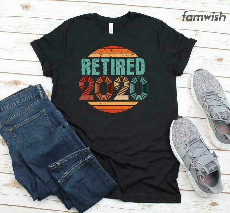 Retired 2020 T-Shirt, Vintage Retirement Shirt, Gift For Men, Retired Coworker Gift, Goodbye Gift For Colleague, Retirement Gift For Women