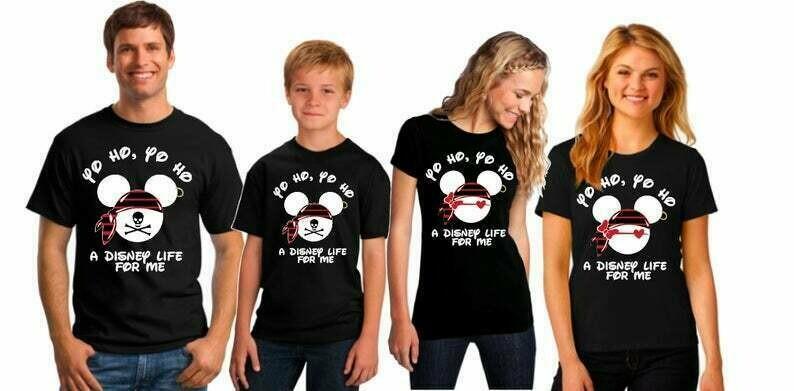 Disney Pirate Shirts, Disney Pirate Family Shirts, Disney Family Shirts, Mickey and Minnie Pirate Shirts, Disney Cruise Shirts, Pirate Shirt