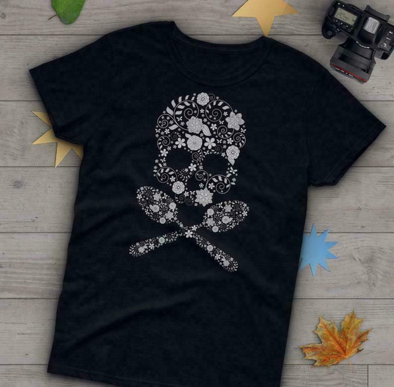 Spoonie Shirt, Women Men, Invisible Mental Chronic Illness Gift, Spoon Theory, Fibro Fatigue Diabetes Crohns EDS Lupus Skull Cross Bones