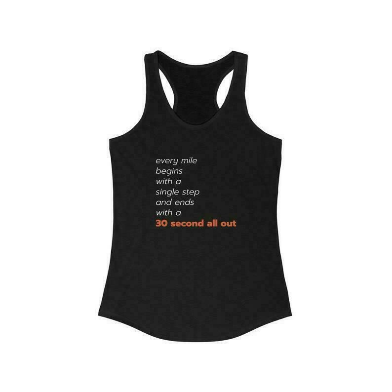 OTF Every Mile Tank - Women's Orange Theory Racerback Tank Top - Black Workout Tank