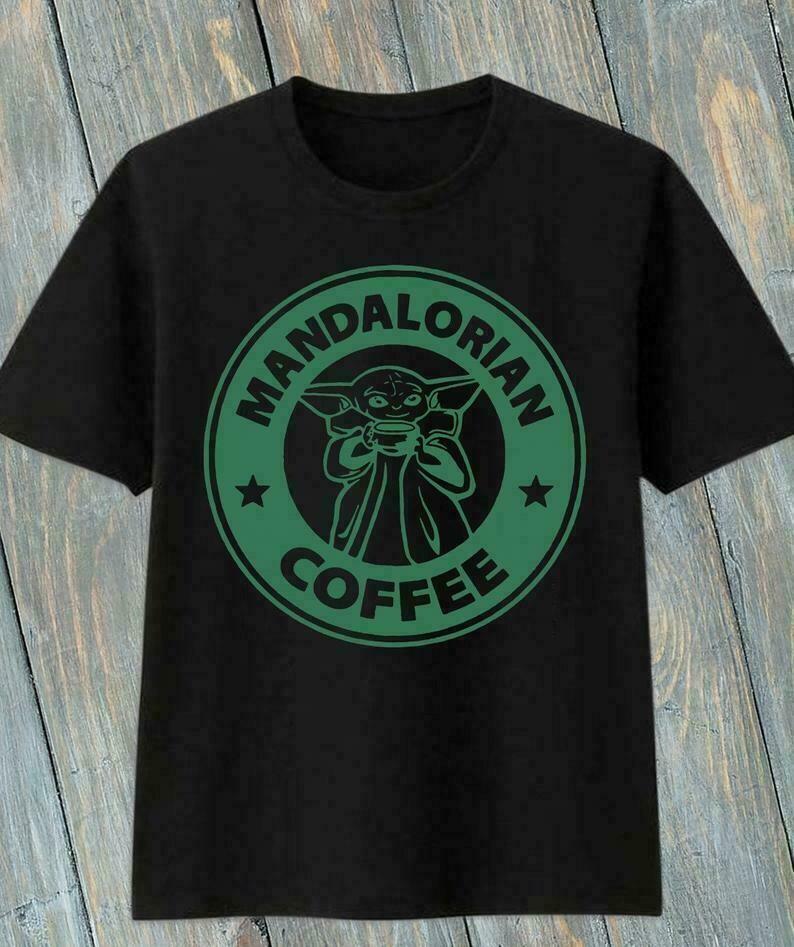 Mandalorian Baby Yoda Coffee,No Coffee No Forcee Star Wars Kawaii King Boba Fett King Pride Rock Funy T-Shirt