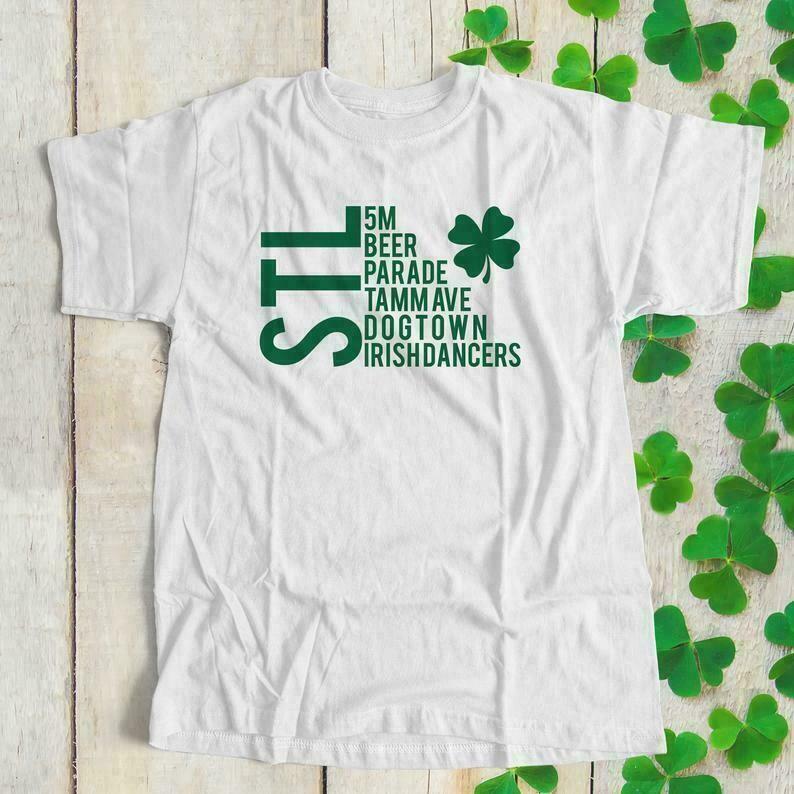 st patricks day shirt | stl st patricks day adult unisex t-shirt | st louis st patty's day parade crew neck tee shirt SNLS2-025