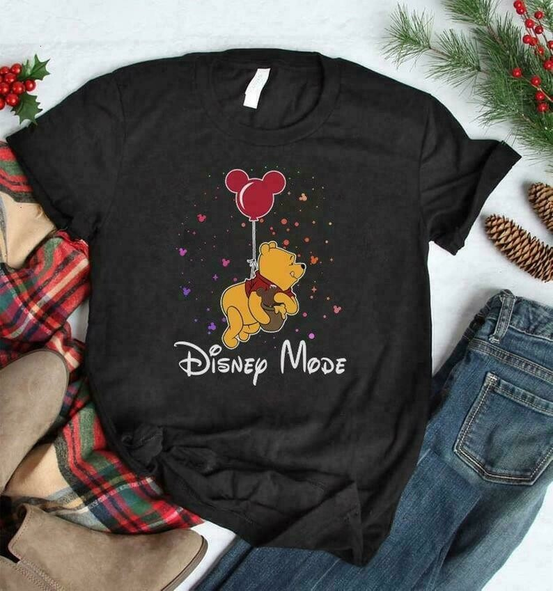 Pooh Disney Mode Vacay Mode Winnie The Pooh Tigger Eeyore Gift for Princess Walt Disney Family Vacation Go to Disney World Disneyland Shirt