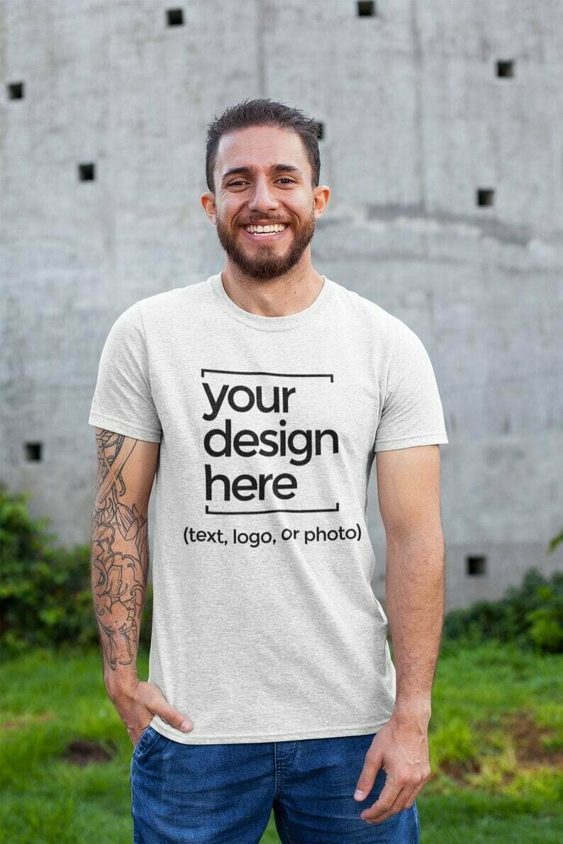 Custom Heavy Cotton Unisex T-shirt, Picture T-shirt, Photo Shirt, Personalized Logo Tee, Men Women Shirt, Customized Unisex T-shirt