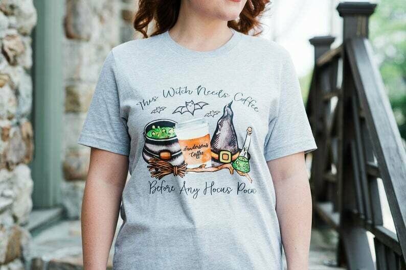 Funny Halloween Shirt, Halloween Shirt, Halloween Tshirt, Hocus Pocus Shirt, Hocus Pocus Tshirt, Witch Shirt, This Witch Needs Coffee