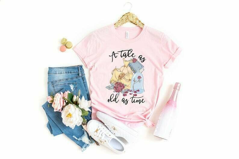 Tale As Old As Time Shirt, Tale As Old As Time Tank Top, Beauty And The Beast Shirt, Belle Shirt, Disney Princess Shirt