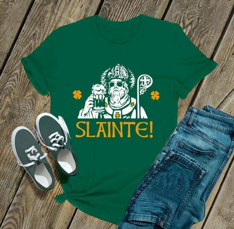 Slainte - Irish Happy St. Patrick's day shirt T-shirt Shamrock shirt sweat shirt hoodie - H Tsh2d 280220 1
