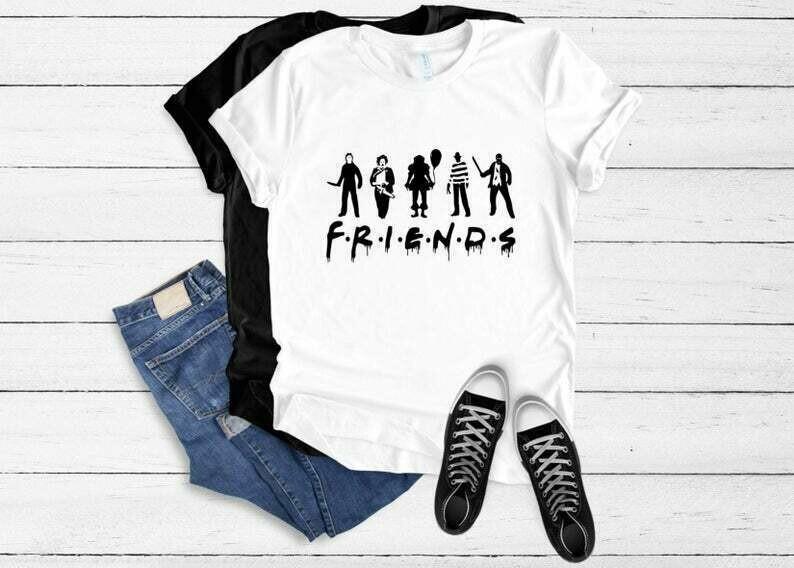 Womens Friends Horror Shirt, Old Horror Movie Tee, halloween, friends-horror-movie-creepy-halloween tshirt