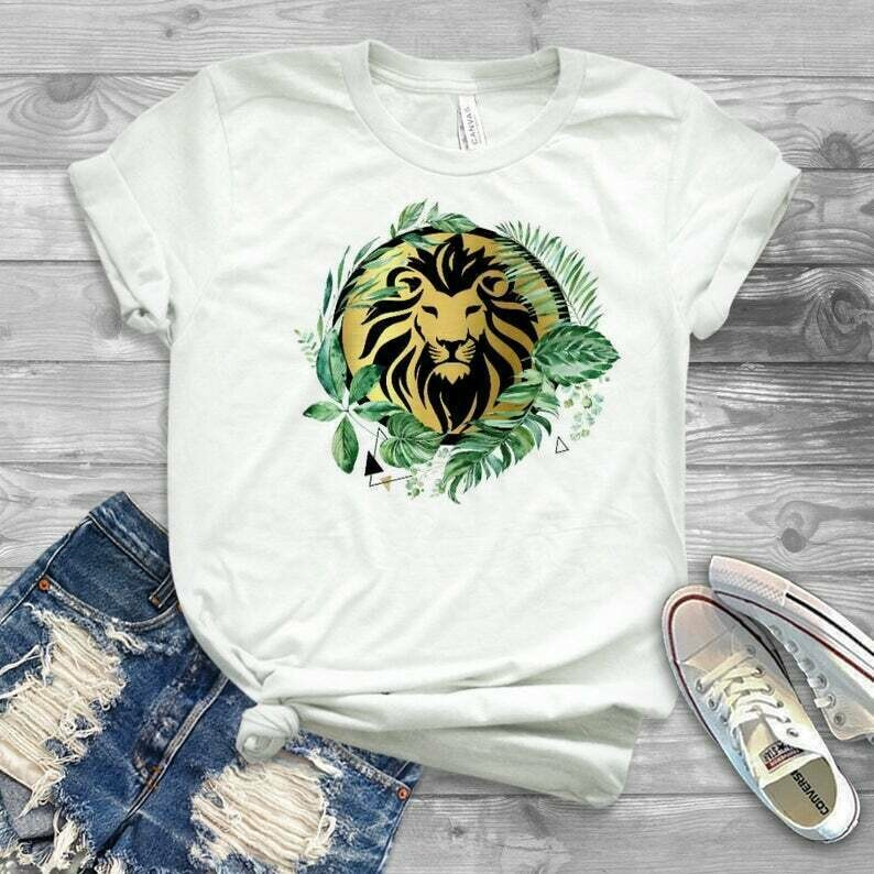 Womens lion king boho design, lion king 2019 design for shirt and tanks