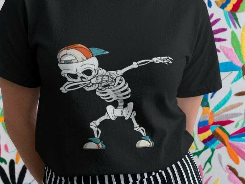 Dabbing Skeleton Shirt, Skeleton Shirt, Skeleton Skull, Halloween Skeleton, Skeleton Dab, Funny Skeleton, Cute Skeleton, Dancing Skeleton