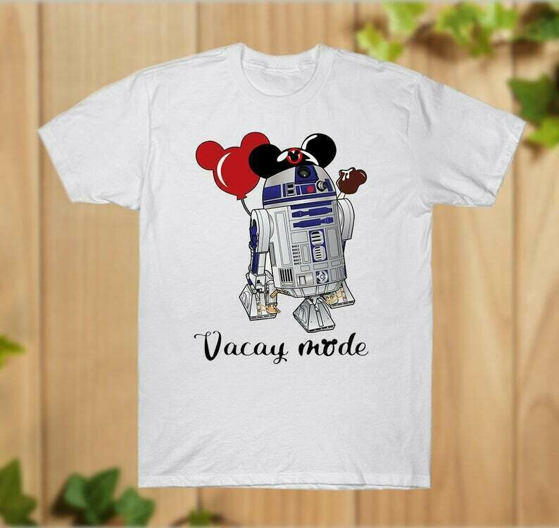 R2D2 Mickey Ears Vacay Mode Star Wars Disney Movie Storm Trooper BB8 Princess Walt Disney Vacation Family Go to Disney World - hung07032020