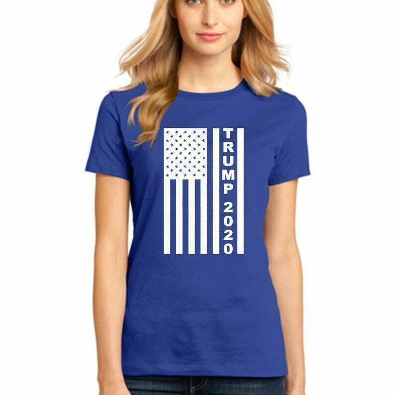 TRUMP 2020 White Flag President American Election Novelty Funny WOMEN Tshirt Make America Great Again Republican Tee Shirt Active