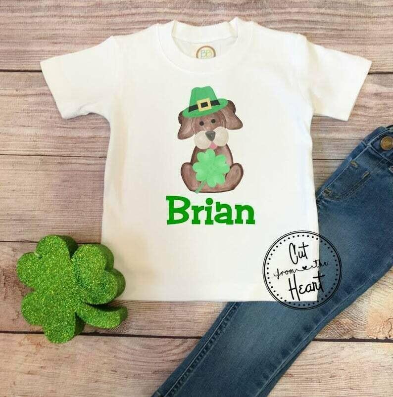 Boys St Patricks Day Shirt, Kids St Patricks Day Shirt, St. Patty's Day Shirt, Custom Name St Patricks Day Shirt, Shamrock Kids Shirt