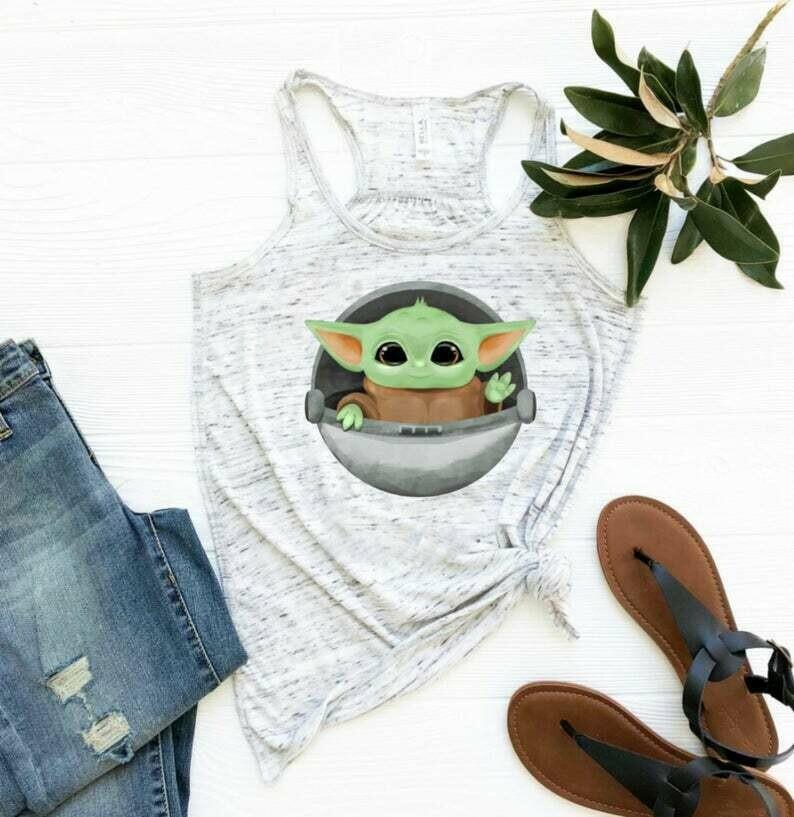 Disney shirts - Baby Yoda Disney tank - Disney family shirt- Disney shirt for women - Disney - Disney tank tops