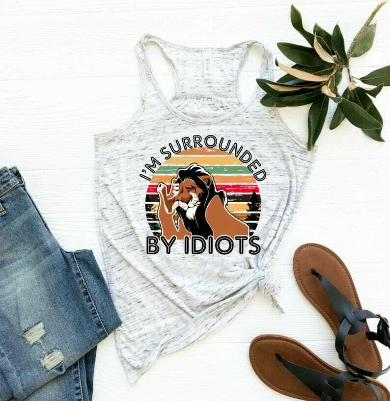 Disney shirts - Surrounded by idiots Disney tank - Disney shirt - Disney shirt for women - ladies Disney - Disney tank tops