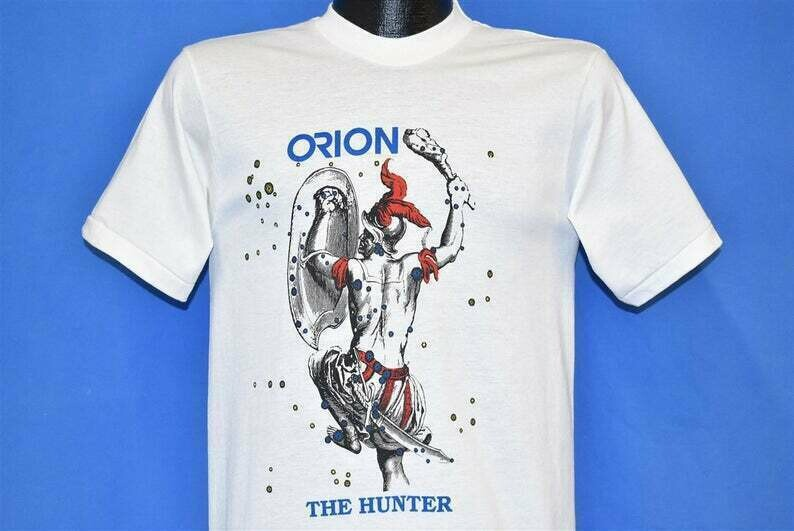 80s Orion The Hunter Greek Mythology Constellation t-shirt Small Vintage Tee