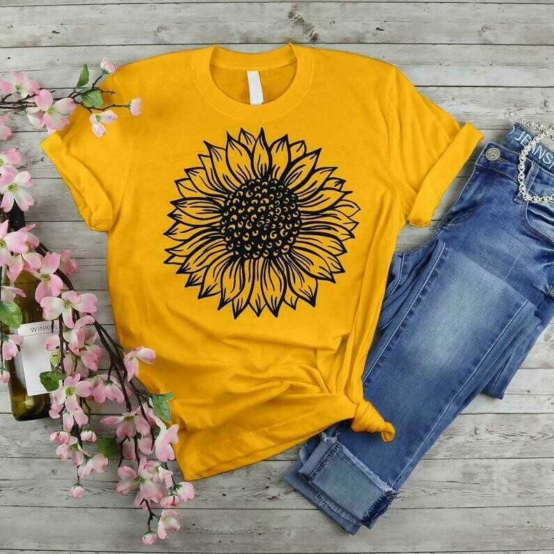 Here Comes The Sun Flower Choose Kindness,Hippie Love Peace Freedom Sun Flower Floral Cute T-shirt
