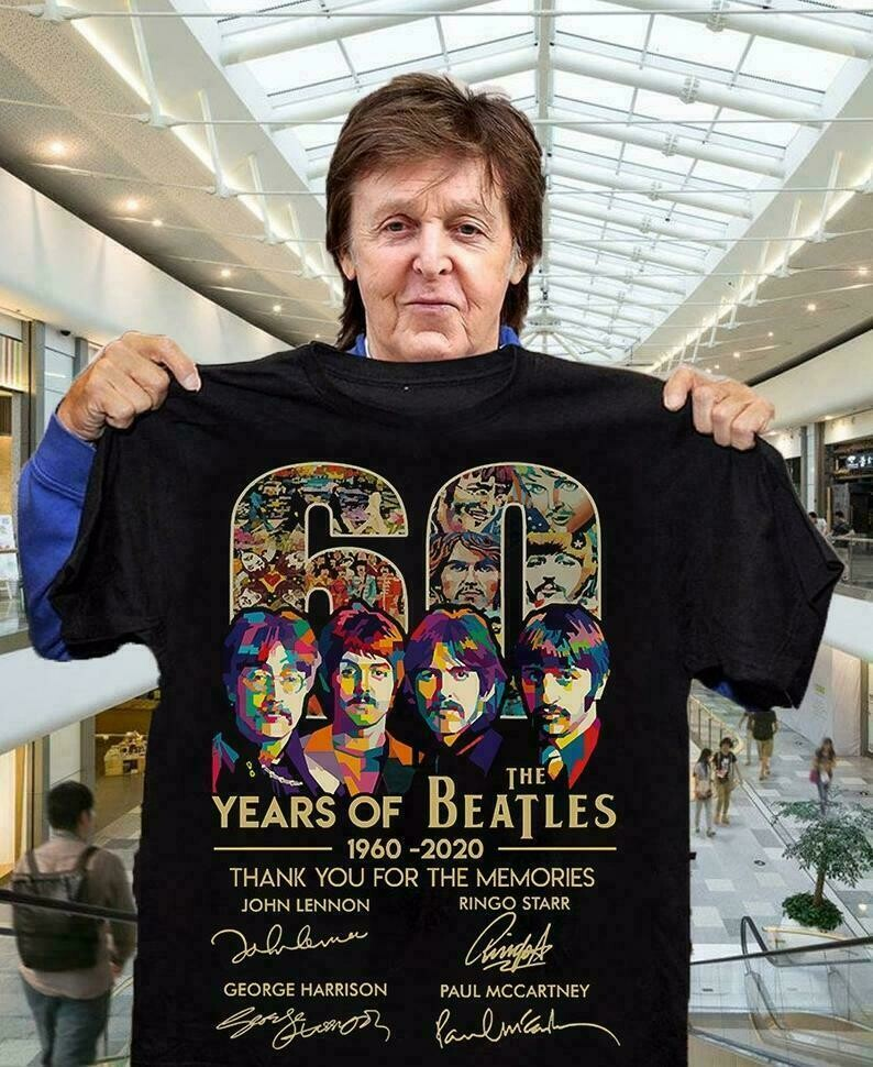 The beatles 60th anniversary 1960 - 2020 thank you for the memories signal,Classic Rock Band Legend Fan T-Shirt