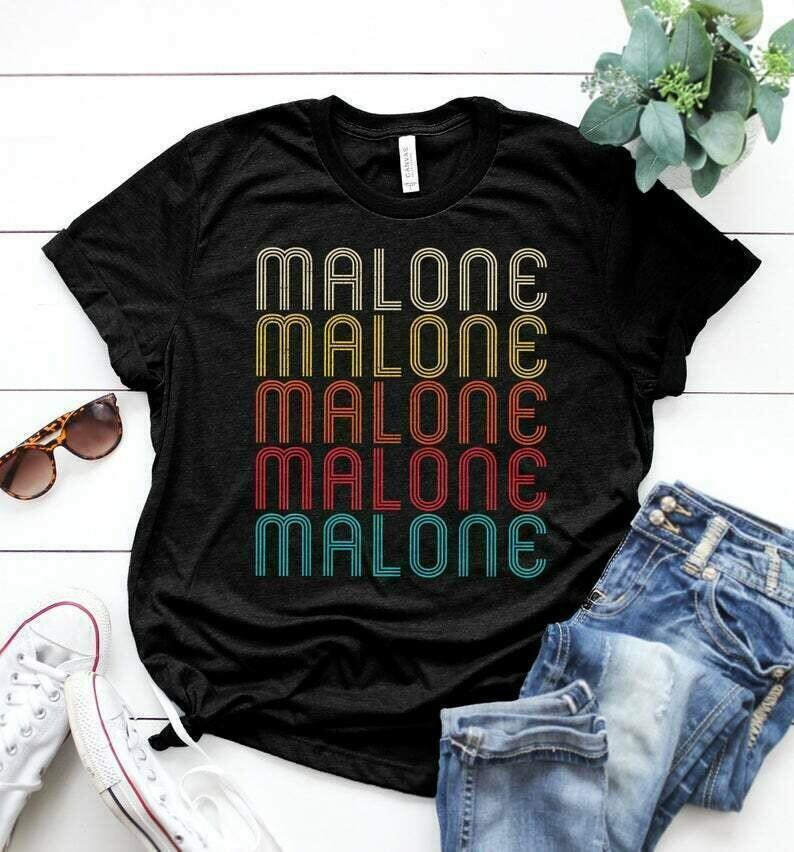 Malone Retro Vintage Style Name Gift T-Shirt Malone Name Gift Unisex Jersey Short Sleeve TShirt