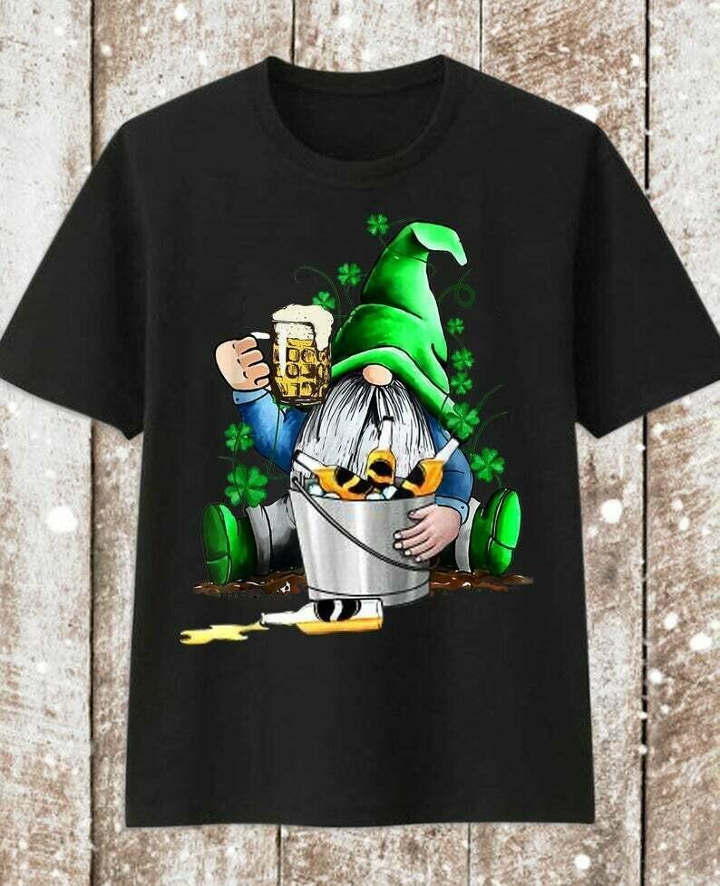 Gnomie Shut up liver you're fine Irish Beer St. Patrick's Day T-Shirt gift for Men,Women