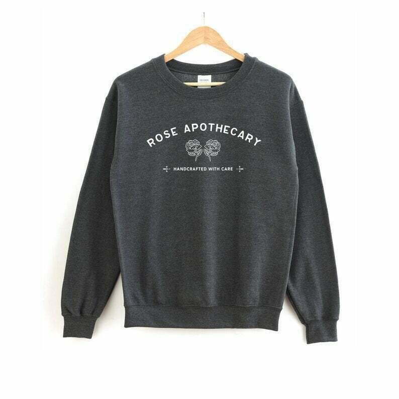 Schitt's Creek Sweatshirt | Rose Apothecary Sweatshirt - Alexis Rose - David Rose - Moira Rose - Johnny Rose - Ew David - Rose Apothecary