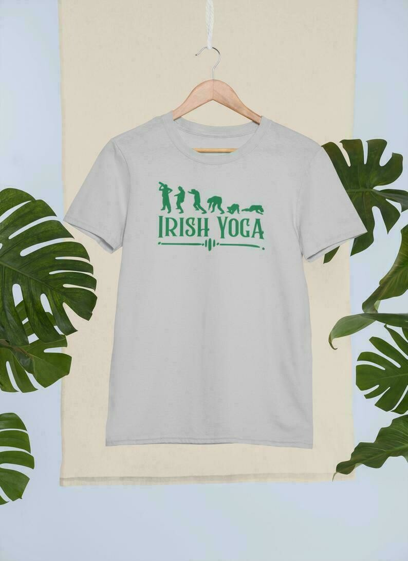 Irish yoga poses funny st patricks day tee, best gift for friends, for dad, for boyfriend, fun st Pattys Day tee