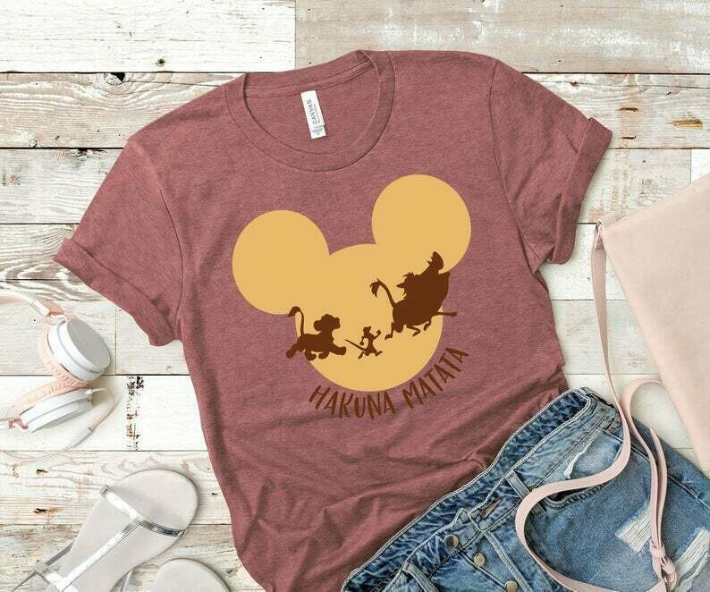 Hakuna Matata Shirt - Lion King Shirt - Women's Disney Shirt - Disney World Shirt - Disney Land Shirts - Animal Kingdom - Matching Shirts-
