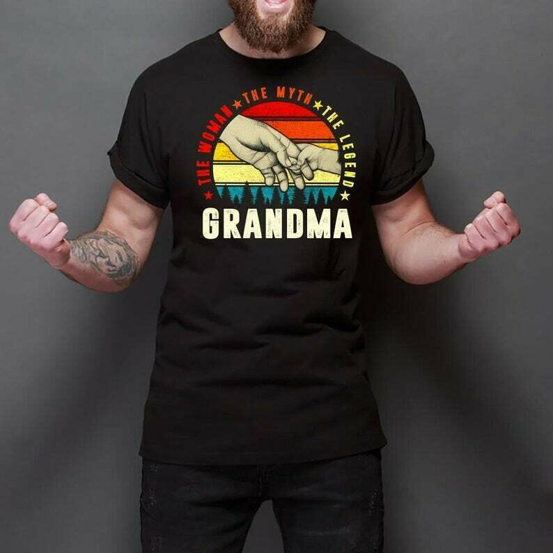 Vintage Grandma The Wonan The Myth The Legend Mom Mommy T Shirt Gift for mama mommy mimi daughter wife