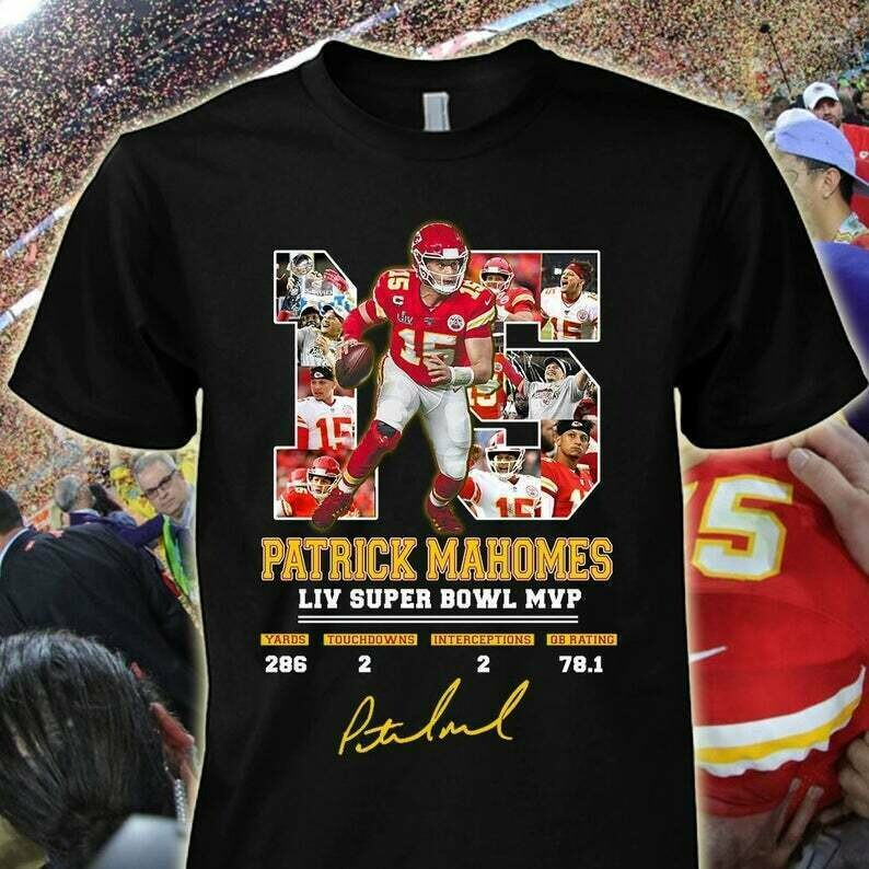 Mahomes Kansas City Chiefs Super Bowl 54 2020 LIV Champions February 2 2020 Miami NFL Football Team Dad Mon Kid Fan Gift T-Shirt