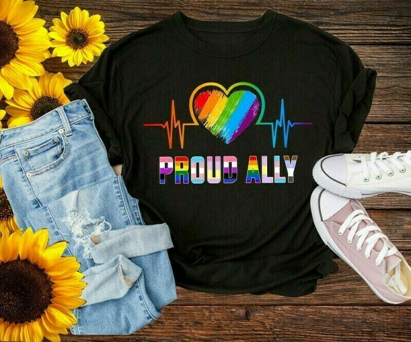 Proud ally rainbow heartbeat lgbt pride LGBTQ Rainbow Heart Love, Dripping Rainbow Lips, sexy rainbow dripping lips, lgbt dripping lips