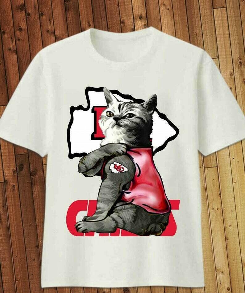 Cats Tattoo KC Kansas City chiefs Bowl Champions 2020 Hard Rock stadium Football Team T-Shirt