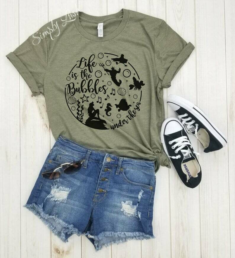 Life is the bubbles CIRCLE - shirt, disney tee, disney vacation, disney inspired, under the sea, ariel, little mermaid,disney family shirts.