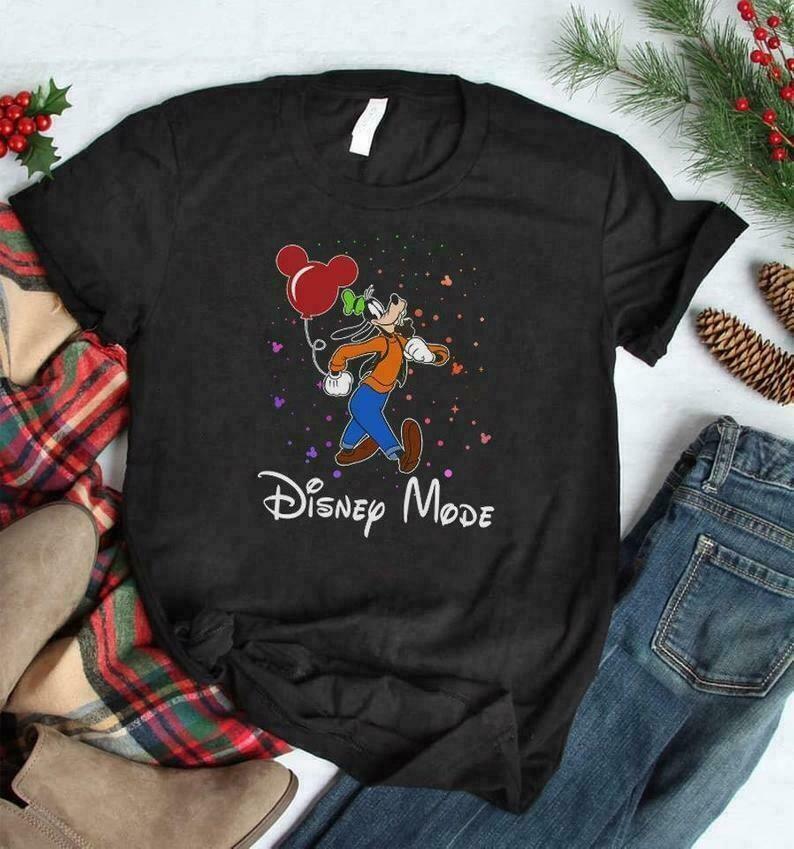 Goofy Disney Mode Vacay Mode Goofy Pluto Mickey Ears Gift for Princess Walt Disney Family Vacation Go to Disney World Disneyland T Shirt