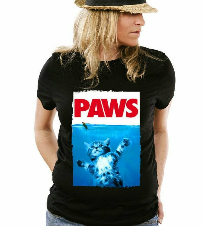 Funny Paws Cat and Mouse T-Shirt Movie Mashup Parody Shirt tee Shirt Mens Ladies Womens Youth Kids MLG-1192