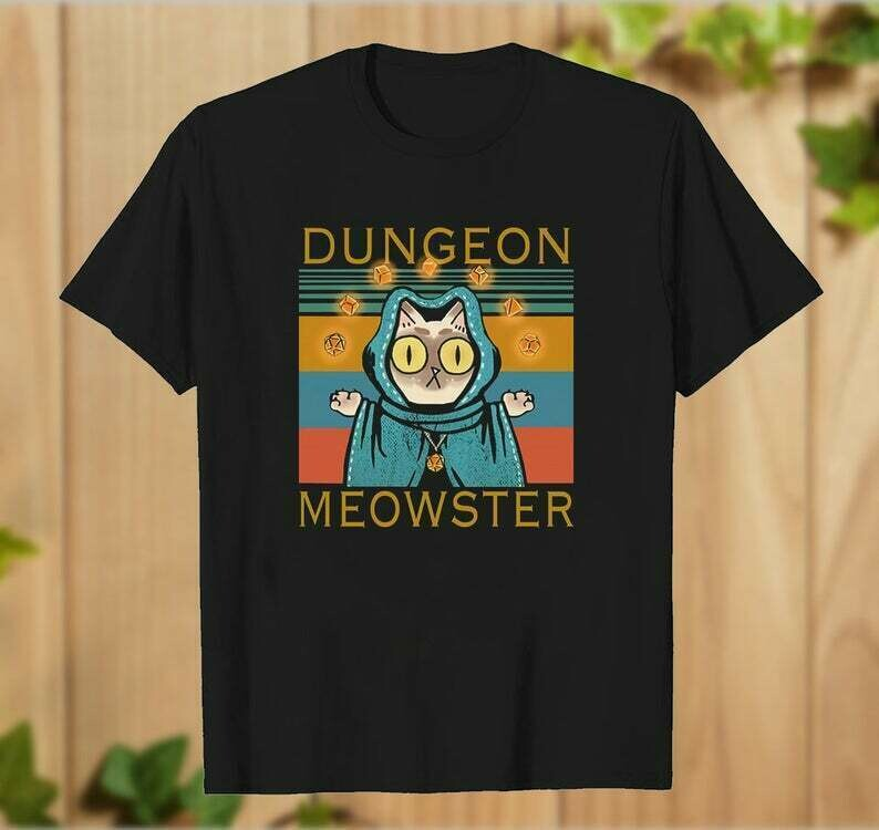 Dungeon Meowster Tabletop RPG Geek Roleplay Game T Shirt for Men Women Cat Game Lover Meowster Unisex Hoodie Dungeon Gift - hung09032020