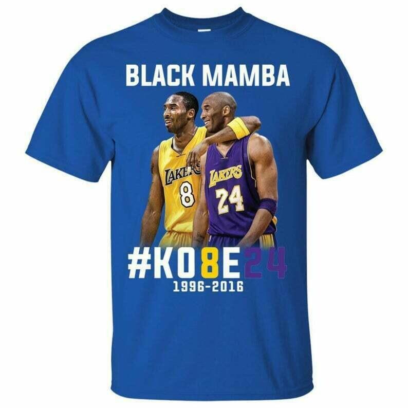 Kobe Bryant Black Mamba T-Shirts, Kobe Bryant Shirt, NBA Team Lakers Kobe Bryant, Unisex Soft Cotton Tee, Up to 5XL
