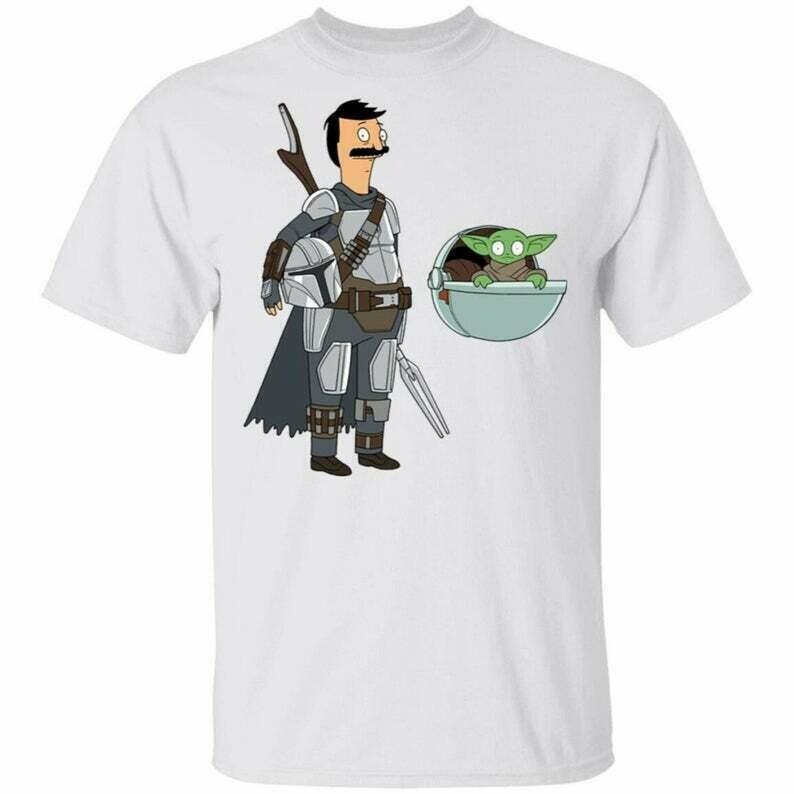 The Mandalorian and Baby Yoda Bob's Burgers shirt, Baby Yoda Shirt, Star Wars T-shirt, Baby Yoda The Child, Funny Yoda Tee, Soft Cotton Tee