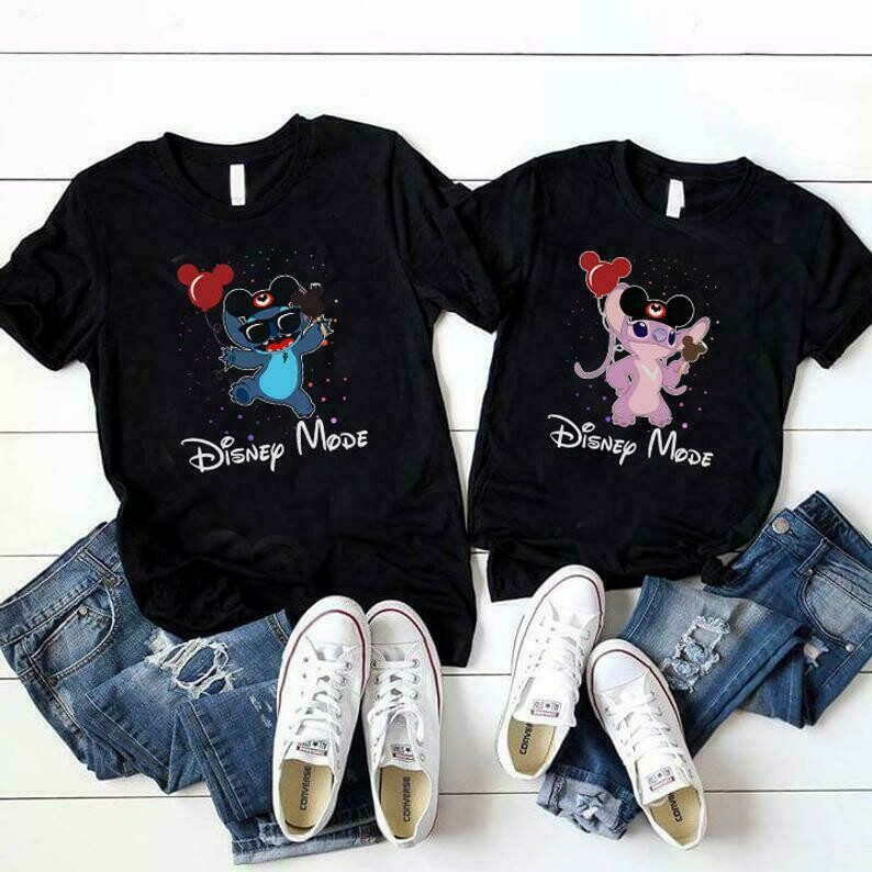Stitch & Angel Shirts, Disney Vacation Shirts, Couple Matching Shirts, Disney Trip Shirt, Disney Anniversary Outfit, Valentine Gift,