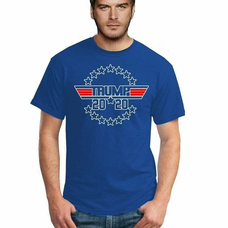 TRUMP 2020 Top Gun Style President American Election Novelty Funny MEN Tshirt Make America Great Again Republican Tee Shirt