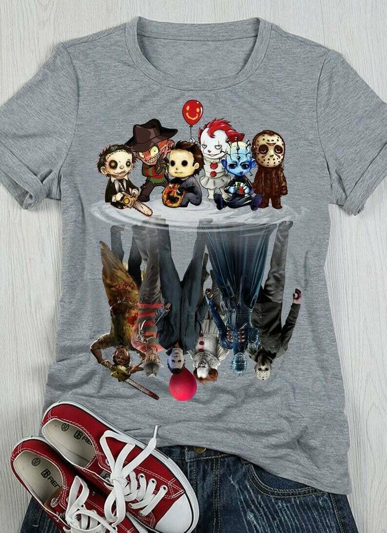 Halloween upside Down Reflections Horror Movie T-Shirt
