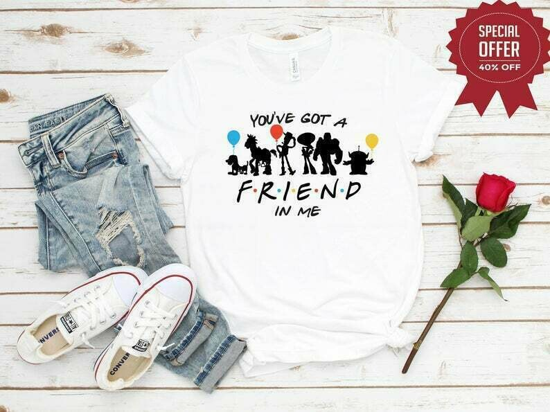 Disney Friends Inspired You've Got a Friend in me Matching Shirts, Disney Characters shirt,Disney family matching Shirt, Toy Story Shirt