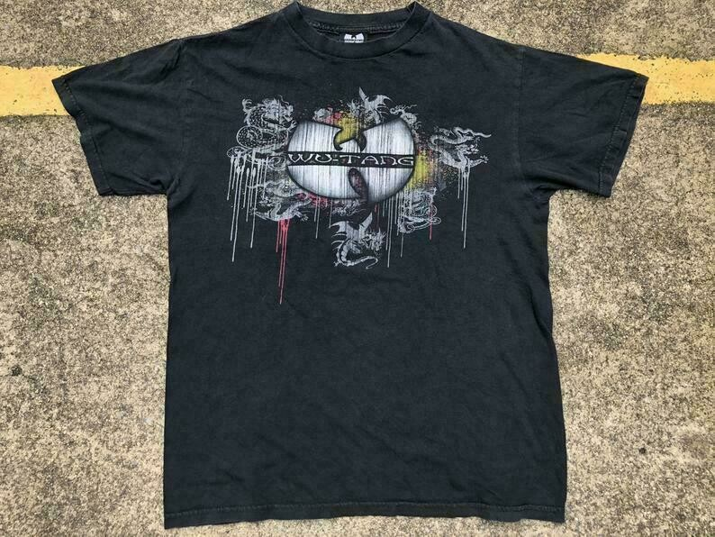 VTG Wu Tang Dragons T-Shirt Thrifted by 90s_TPT