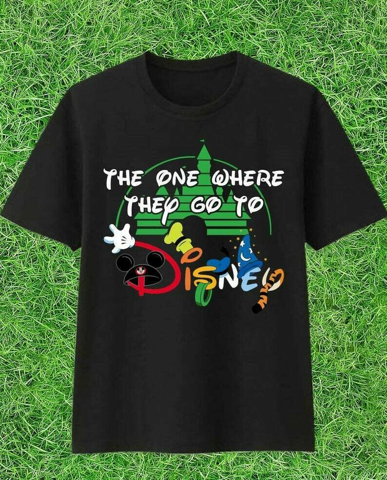 The one where they go to Disney Friends Inspired Disney World Family Trip Group Matching Friends T-Shirt