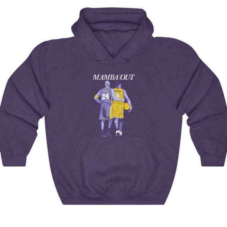 Kobe Bryant Mamba Out Hoodie, Kobe Bryant Legend Merch, Los Angeles Lakers Hoodie, NBA Hoodie, Kobe Bryant Memory Pullover Hoodie