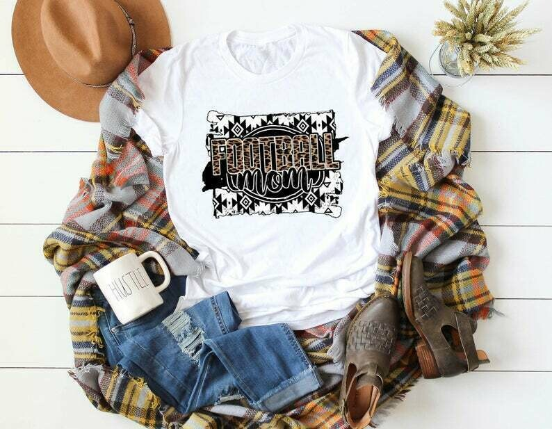 Football Mom Shirt, Mom Football Shirt, Football Shirt for Mom, Leopard Mom Football, Sunday Football Shirt, High School Football College
