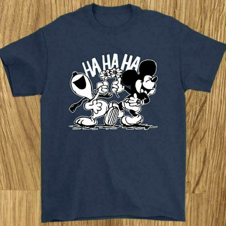 Mickey Disney and Snoopy Peanuts Woodstock Charlie Hahaha Gift for Princess Walt Disney Family Vacation Go to Disney World Disneyland Shirt