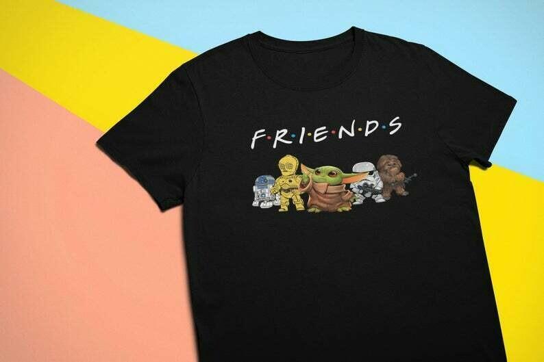 Star Wars And Friend Shirt / Cute Star Wars t-shirt / p3po / r2d2 / Baby Yoda shirt / Little characters / Squad / Unisex t-shirt