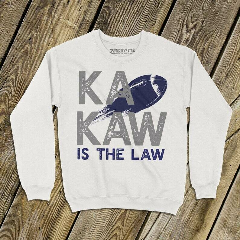 saint louis football sweatshirt | battlehawks sweatshirt | ka kaw is the law football rocket |battlehawks adult unisex sweatshirt MSTL-041ss